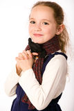 Smiling girl in scarf Stock Photography