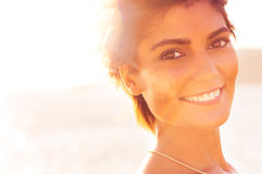 Smiling Girl At Sea Royalty Free Stock Images