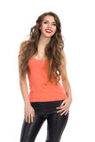 Smiling Girl With Sexy Neckline Royalty Free Stock Photos