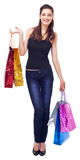 Smiling girl with shopping bags. Stock Image