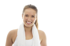 Smiling girl in sportswear Royalty Free Stock Photo