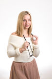 Smiling nurse with stethoscope royalty free stock image