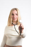Smiling nurse with stethoscope royalty free stock photography