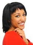 Smiling girl in studio Royalty Free Stock Photos