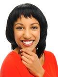 Smiling girl in studio Stock Photography