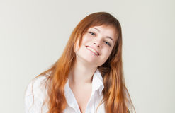 A smiling girl in a studio Stock Photos