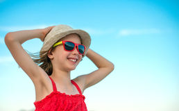 Smiling girl in sunglasses. Royalty Free Stock Photography