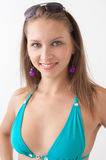 Smiling girl in swimwear Royalty Free Stock Images