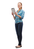 Smiling girl with tablet pc computer Stock Photo