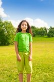 Smiling girl in te park Royalty Free Stock Photo