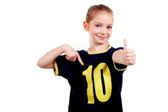 Smiling girl with thumbs up! Royalty Free Stock Photo