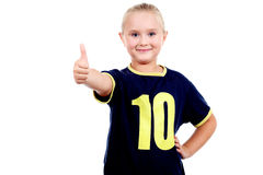 Smiling girl with thumbs up! Royalty Free Stock Image