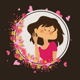 Smiling Girl for Valentine`s Day celebration. Royalty Free Stock Image