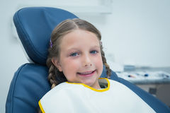 Smiling girl waiting for dental exam Royalty Free Stock Photos