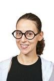 Smiling girl wearing glasses Stock Photo