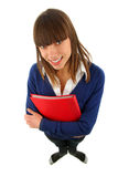Smiling girl wiht a  book Royalty Free Stock Photos
