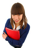 Smiling girl wiht a  book Stock Image
