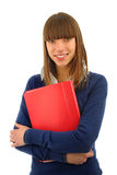 Smiling girl wiht a  book Royalty Free Stock Image