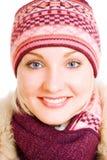 Smiling girl in winter coat Royalty Free Stock Photo