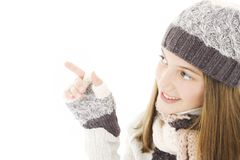 Smiling girl in winter style. Stock Photography