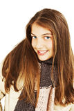Smiling girl in winter style Stock Image