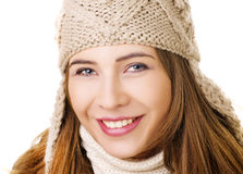 Smiling girl in winter style Royalty Free Stock Photography