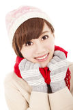 Smiling  girl with winter wear Royalty Free Stock Photography