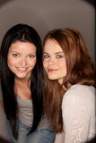 Smiling girlfriends Royalty Free Stock Photography