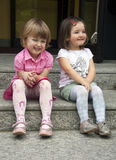 Smiling Girls. Portrait of two little girls Royalty Free Stock Photos
