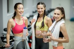 Sporty women stock images