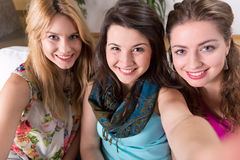 Smiling girls Stock Photography