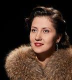 Smiling glamorous woman portrait Royalty Free Stock Photos