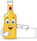 Smiling Glass Beer Bottle Character Royalty Free Stock Photography