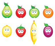 Smiling glossy fruits Stock Image