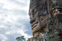Smiling god at Bayon temple, Angkor - Cambodia Stock Images