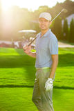Smiling golfer Royalty Free Stock Photo