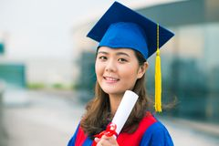 Smiling graduate Royalty Free Stock Photos