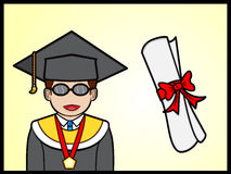 Smiling Graduate Student Royalty Free Stock Photos