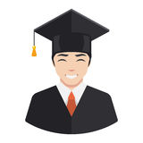 Smiling graduate student Stock Photos