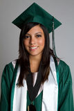 Smiling Graduting Girl Stock Photo