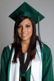 Smiling Graduting Girl Stock Photo