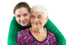 Smiling grandma and granddaughter Royalty Free Stock Photo