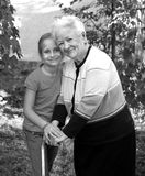 Smiling grandmother with granddaughte Stock Photography