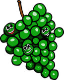 Smiling Grapes on a grape cluster Royalty Free Stock Images