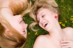 Smiling in the grass Stock Photography