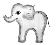 Smiling gray elephant in profile Royalty Free Stock Photos