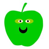 Smiling green apple Royalty Free Stock Image