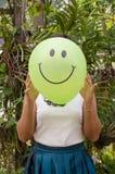 Smiling green balloon Royalty Free Stock Photo