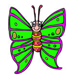 Smiling green butterfly Stock Photo