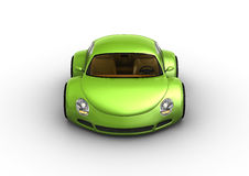 Smiling green car Stock Photography